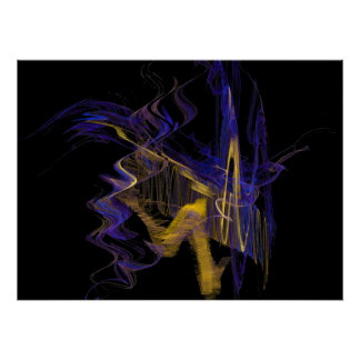 Apophysis-100704-3  SapphireGold Poster