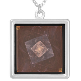Apophysis-3-6542233 Silver Plated Necklace