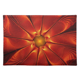 apophysis-421984 FIRE RED DIGITAL FLOWER apophysis Cloth Place Mat