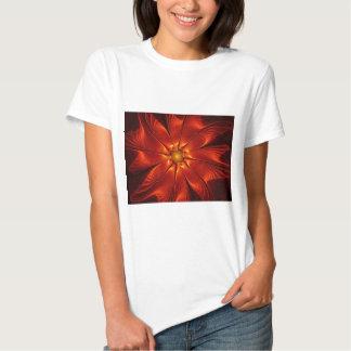 apophysis-421984 FIRE RED DIGITAL FLOWER apophysis T-Shirt