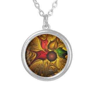 apophysis-421987 GOLDEN SCROLLS LEAVES DIGITAL BEA Personalized Necklace