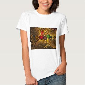 apophysis-421987 GOLDEN SCROLLS LEAVES DIGITAL BEA T-Shirt