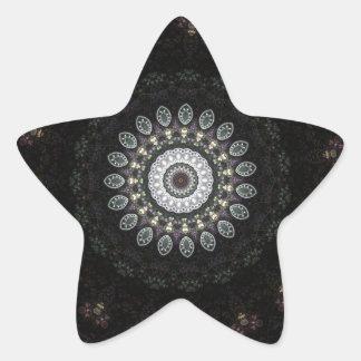 Apophysis Blümchen caleidoscopio Pegatina En Forma De Estrella