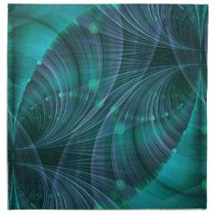 Apophysis Fractal Art I - blue Napkins