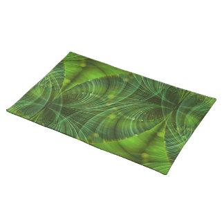 Apophysis Fractal Art I - green Place Mat