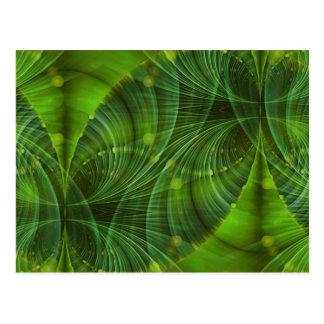 Apophysis Fractal Art I - green Postcard