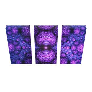 Apophysis Fractal - Atoms Fusion - triptych Canvas Print