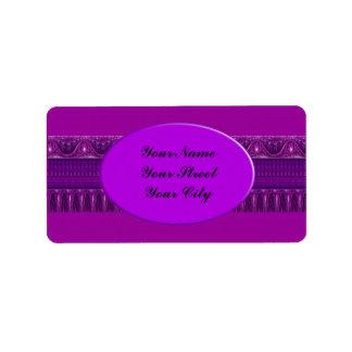 Apophysis Fractal Border ART - pink violet Address Label