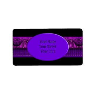 Apophysis Fractal Border ART - violet pink Address Label