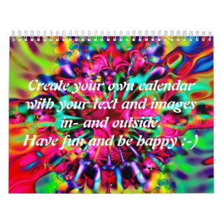 Apophysis Kaleidoscope I + your text & images Wall Calendars