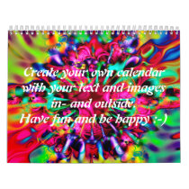Apophysis Kaleidoscope I   your text & images Calendar