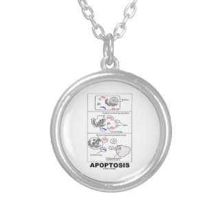 Apoptosis Biology Programmed Cell Death Silver Plated Necklace