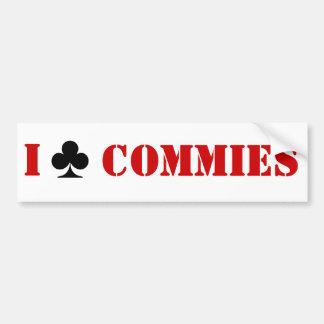 Aporreo a Commies Pegatina Para Auto