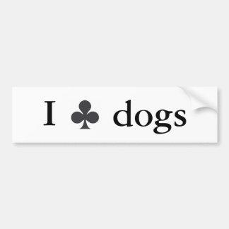 Aporreo perros pegatina para auto