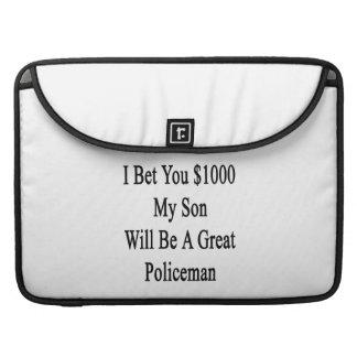 Aposté que usted 1000 mi hijo será gran policía funda para macbook pro