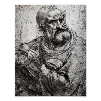 Apostle, holy communion by Leonardo da Vinci Print