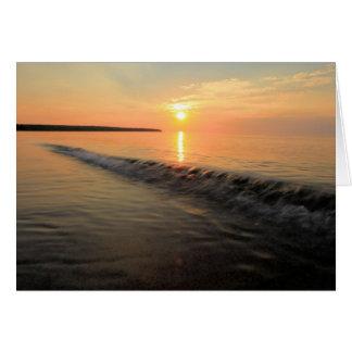 Apostle Islands Sunset On Lake Superior Card