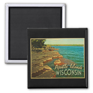 Apostle Islands Wisconsin 2 Inch Square Magnet