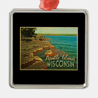 Apostle Islands Wisconsin Metal Ornament