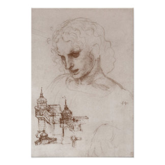 Apostle Jacobus Sforza Castle, Leonardo da Vinci Poster