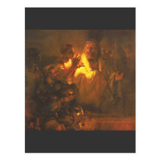 Apostle Peter denied Christ by Rembrandt Postcard