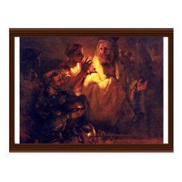 Apostle Peter Denies Christ,  By Rembrandt Harmens Postcard