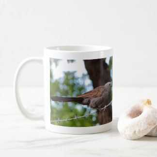 Apostlebird on barb wirec coffee mug