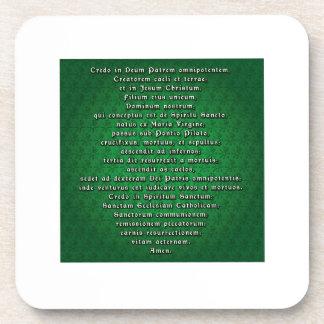Apostles' Creed in Latin Drink Coaster
