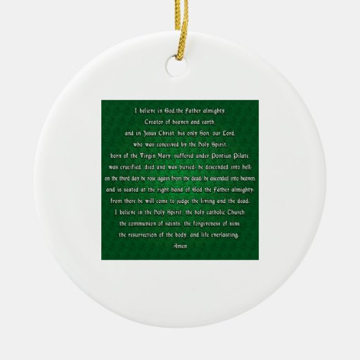 Apostles Creed Double-Sided Ceramic Round Christmas Ornament
