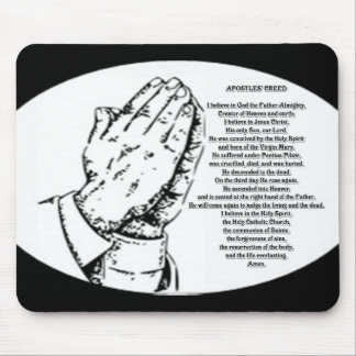 Apostles creed prayer mouse pad