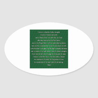 Apostles Creed Oval Stickers