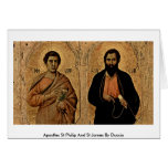 Apostles St.Philip And St.James By Duccio Greeting Card