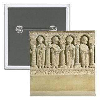 Apostles under Arcades, carved relief, c.1150 (sto Button