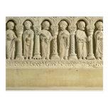 Apostles under Arcades, carved relief, c.1150 (sto Postcard