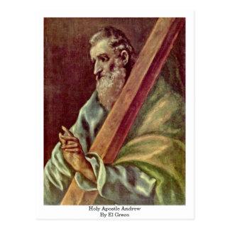 Apóstol santo Andrew de El Greco Postales
