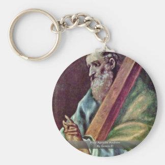 Apóstol santo Andrew por el EL de Greco Llavero