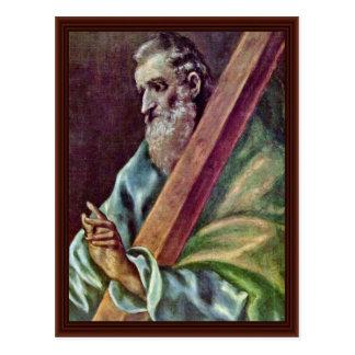 Apóstol santo Andrew por el EL de Greco Tarjetas Postales