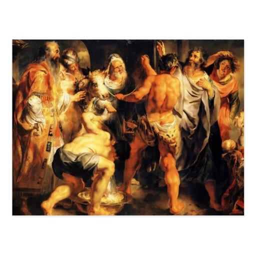 Apóstoles de Jacob Jordaens-The, San Pablo, St. Ba Tarjeta Postal