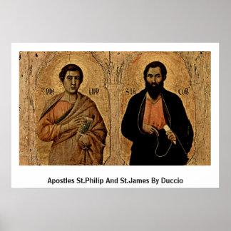 Apóstoles St Philip y San Jaime por Duccio Posters