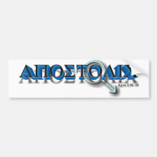 Apostolic Man Bumper Sticker