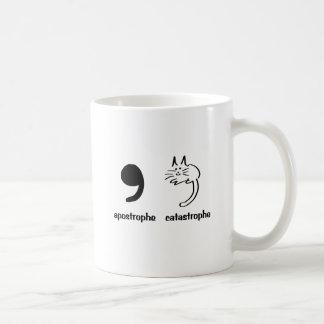 apostrophe catastrophe classic white coffee mug