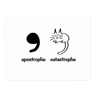 apostrophe catastrophe postcard