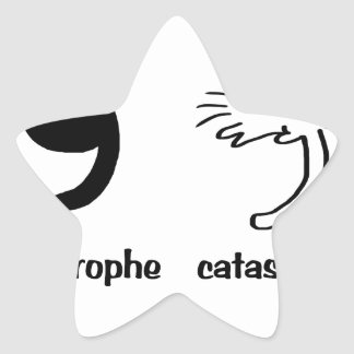 apostrophe catastrophe star sticker