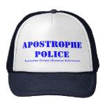 Apostrophe Police Mesh Hat
