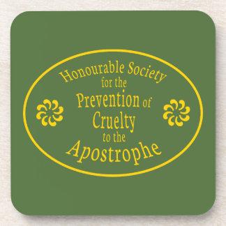 Apostrophe Rules Beverage Coaster