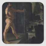 Apoteosis de Delacroix Pegatina Cuadrada