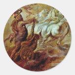 Apoteosis de Hércules de Rubens Peter Paul Pegatina Redonda