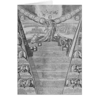 Apoteosis de Peter el grande Tarjeta De Felicitación