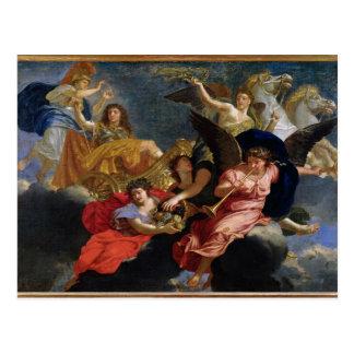 Apoteosis de rey Louis XIV de Francia Postal