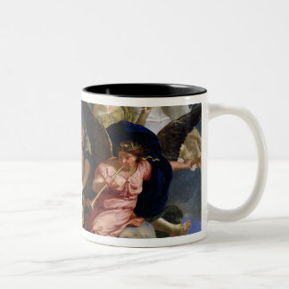 Apoteosis de rey Louis XIV de Francia Taza De Café De Dos Colores